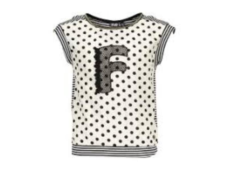Flo top dot/stripe id:F803-5471